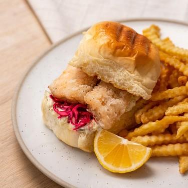 Japanese-Style Fried Fish Burger Recipe   SideChef