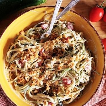 Raw Vegan Creamy Zoodles Recipe | SideChef
