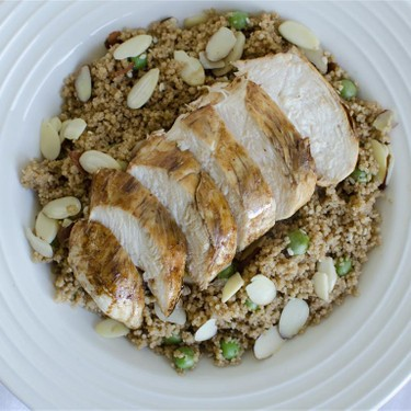 Soy-Glazed Chicken with Asparagus & Pea Couscous Recipe   SideChef
