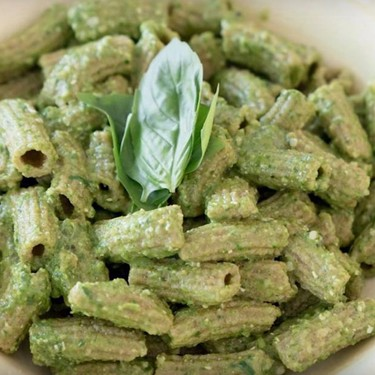 Red Fife Spinach Pasta with Lemon Basil Pesto Recipe | SideChef