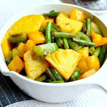 Green Bean Yellow Pepper Pineapple Stir Fry Recipe | SideChef
