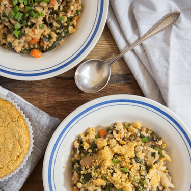 New Year's Hoppin' John and Greens with Corn Bread Recipe | SideChef