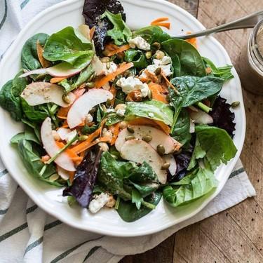 Goat Cheese Salad with Maple Poppyseed Dressing Recipe   SideChef
