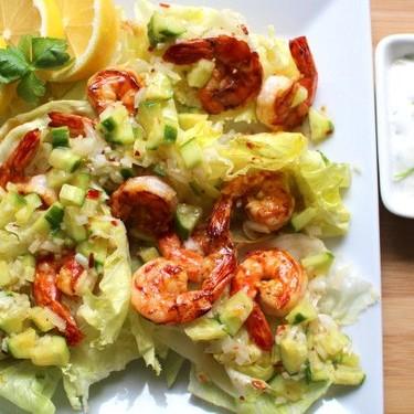Stir-Fried Chili Black Tigers with Cucumber Salsa Recipe | SideChef