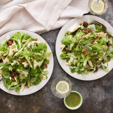 Salad with Chicken, Roasted Grapes and Manchego Recipe | SideChef