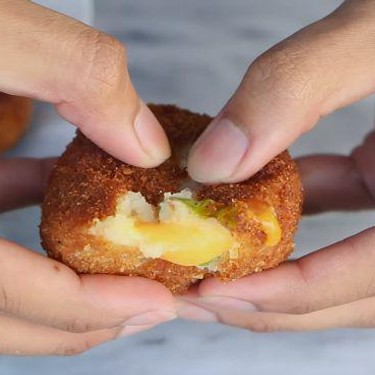 Cheese Stuffed Potato Balls Recipe   SideChef