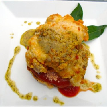Parmesan Crusted Chicken Thighs with Potato Patty Recipe | SideChef