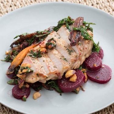 Pork Chops with Beets, Heirloom Carrots & Hazelnuts Recipe | SideChef