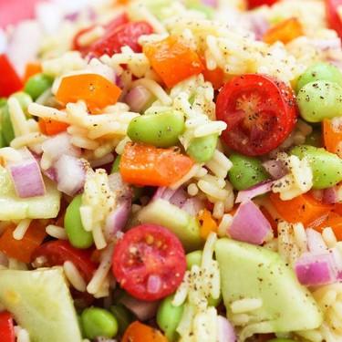 Rice and Veggie Salad Recipe | SideChef
