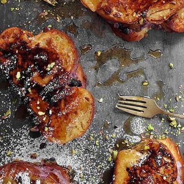 Pistachio Cherry Cream Stuffed French Toast Recipe   SideChef
