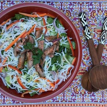 Beefy Asian Noodle Salad Recipe | SideChef