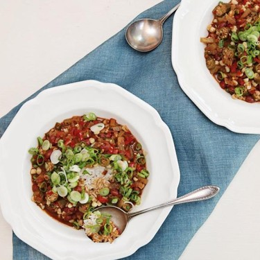 Faux Gumbo with Red Beans & Corn Recipe | SideChef