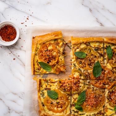 Baked Heirloom Tomato Tart Recipe   SideChef