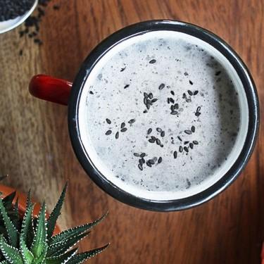 Creamy Black Sesame Latte Recipe | SideChef