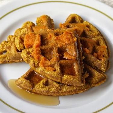 Pumpkin Pie Waffles Recipe | SideChef