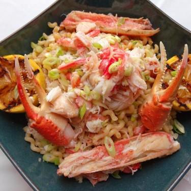 Snow Crab and Fusilli Lunghi in Anchovy Butter Recipe   SideChef