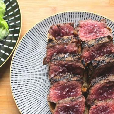 Rare Strip Steak With French Style Green Salad Recipe   SideChef