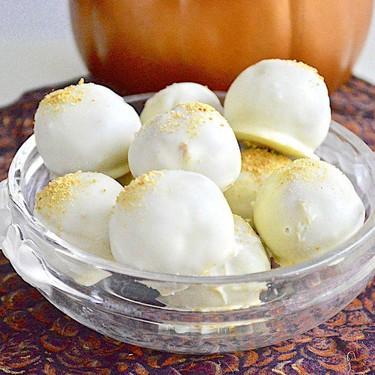 White Chocolate Pumpkin Pie Truffles Recipe | SideChef