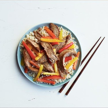Sizzling Sesame Beef and Pepper Stir Fry Recipe | SideChef
