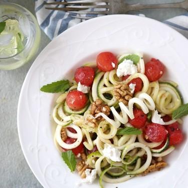 Greek Spiralizer Salad Recipe   SideChef
