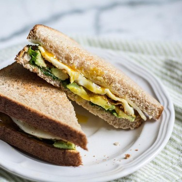Avocado Egg Spinach Breakfast Sandwich Recipe   SideChef