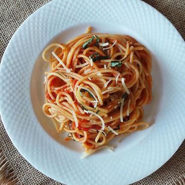 Tomato Basil Spaghetti Recipe | SideChef