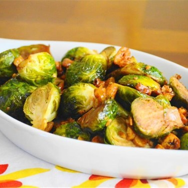 Asian Cashew Roasted Brussels Sprouts Recipe | SideChef