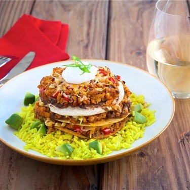Individual Taco Pies with Avocado Yellow Rice Recipe | SideChef