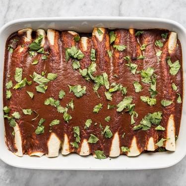 Black Bean and Avocado Enchiladas Recipe | SideChef
