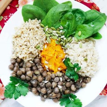 Savory Rice and Oat Bowl with Green Tea Chickpeas Recipe | SideChef