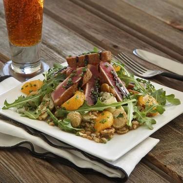 Ahi Tuna Au Poivre with Warm Artichoke-Farro Salad Recipe   SideChef