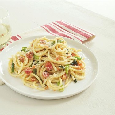 Bucatini with Green Onions and Pancetta Recipe   SideChef