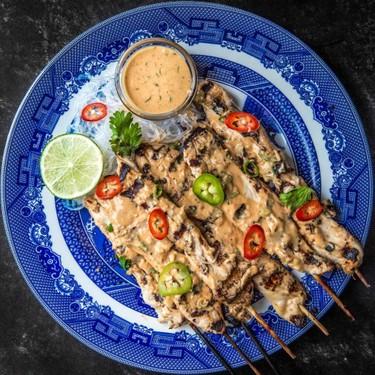 Vegan Mushroom Satay Skewers Recipe | SideChef