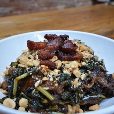 Bacon-Braised Kale with Toasted Hazelnuts Recipe   SideChef