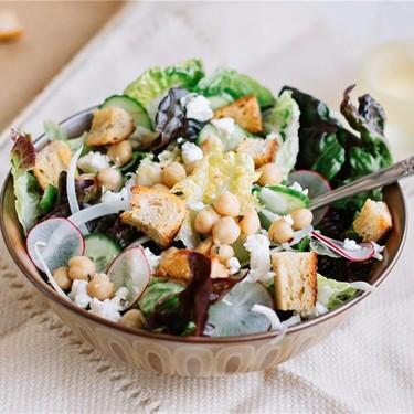 Lemon Garlic Chickpea and Radish Salad Recipe | SideChef