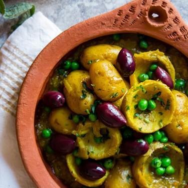 Artichoke Tagine with Peas, Baby Potato and Lemon Recipe   SideChef