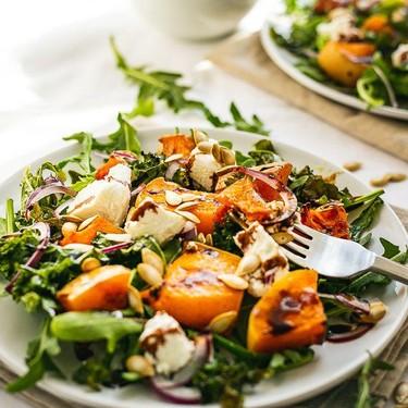 Butternut Squash, Crispy Kale, and Goat Cheese Salad Recipe   SideChef