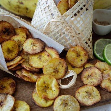 Lime & Black Pepper Baked Plantain Chips Recipe   SideChef
