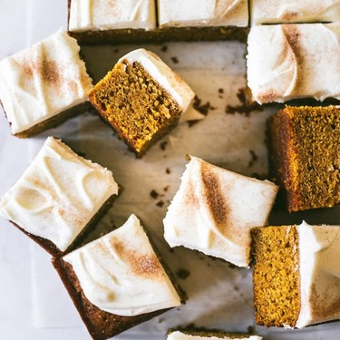 Pumpkin Bars with Browned Butter Cream Cheese Frosting Recipe | SideChef