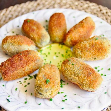 Spinach and Manchego Cheese Croquettes Tapas Recipe   SideChef