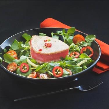 Seared Ahi Tuna with Watercress, Chili and Ginger Recipe | SideChef