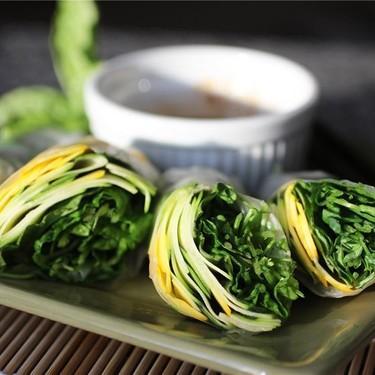 Zucchini Basil Spring Rolls Recipe | SideChef
