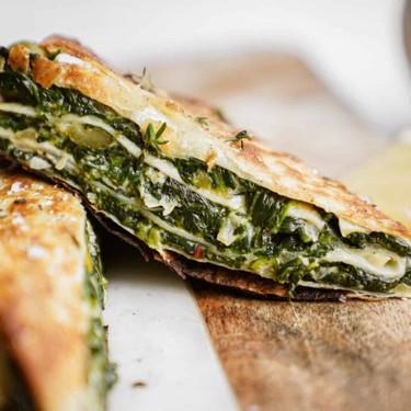 Crunchy Feta, Olive and Spinach Wrap Recipe   SideChef