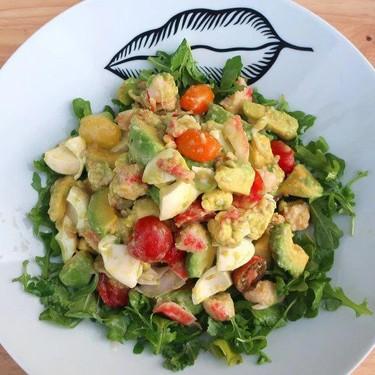Crabmeat salad in Honey Mustard Vinaigrette Recipe   SideChef