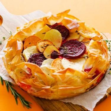 Savory Apple Tart with Flaky Phyllo Crust Recipe   SideChef