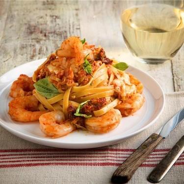 Shrimp Fettuccine Pasta and Fresh Mozzarella Recipe   SideChef