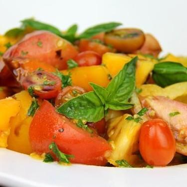 Simple Tomato Basil Salad Recipe   SideChef
