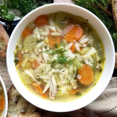 Super Quick Chicken Orzo Soup Recipe   SideChef