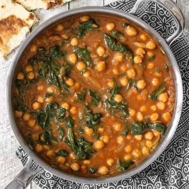 Curried Chickpeas With Spinach Recipe   SideChef