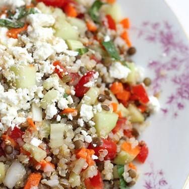 Quinoa Lentil Salad Recipe | SideChef